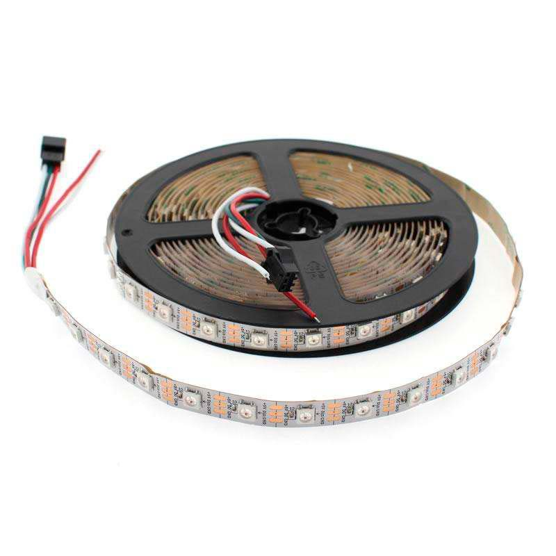 Tira LED IC Digital 2812, RGBX, DC5V, 5m, (60 Led/m) IP67, RGB